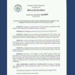 Executive Order No. 2017-08-066 Declaring the Suspension of Class in all School Levels in Tacloban City