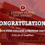 Test Results for S.Y. 2019-2020