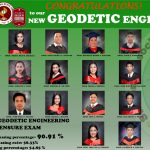 Congratulations to our new Geodetic Engineers
